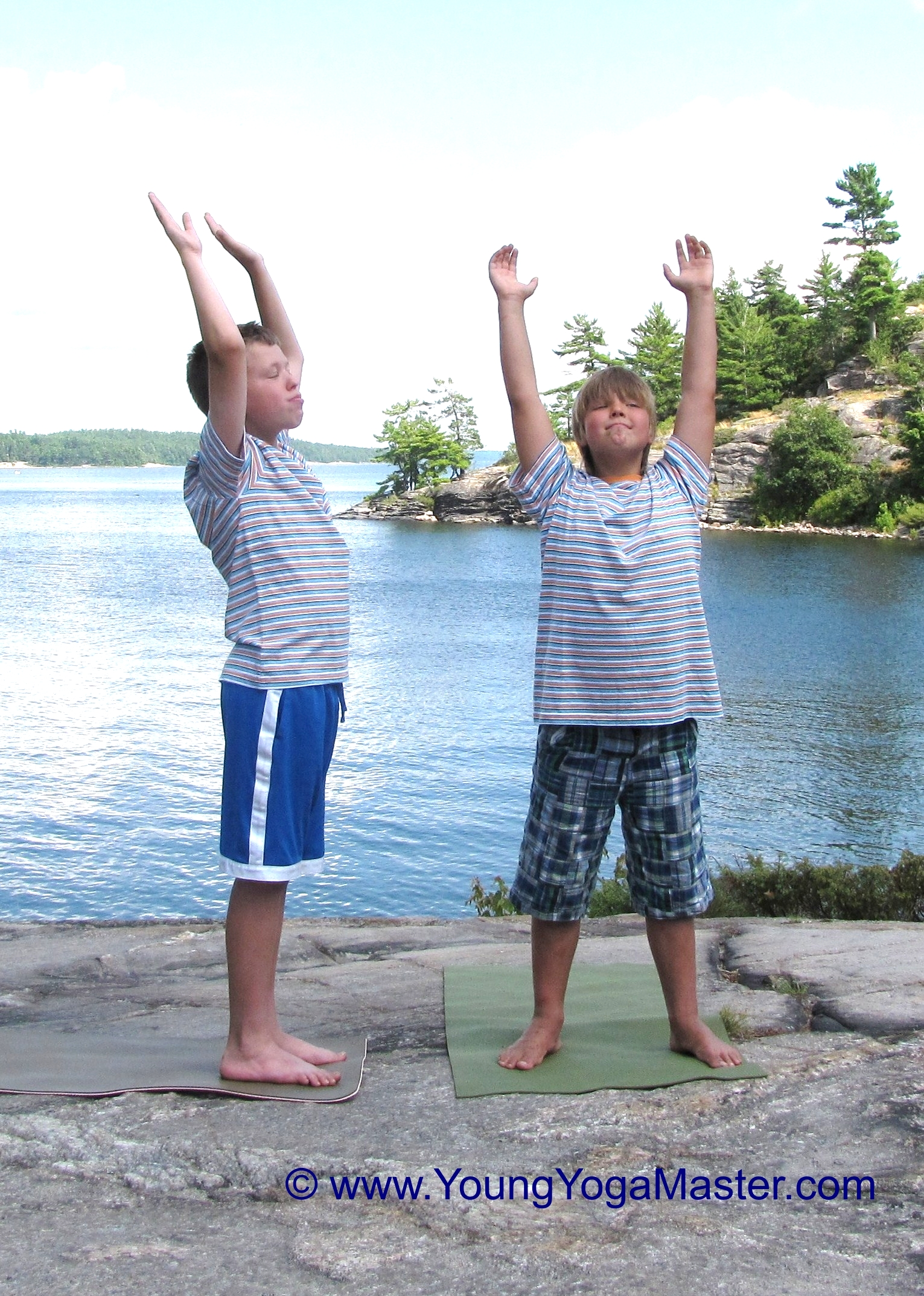 Boys doing Yoga