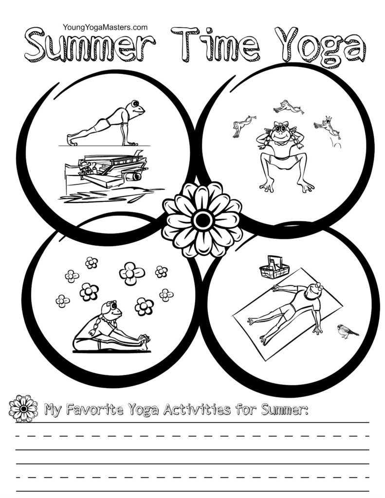 four yoga poses for kids