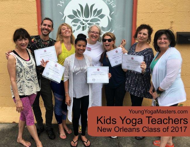 New Orleans Kids Yoga Teacher Graduating Class of 2017